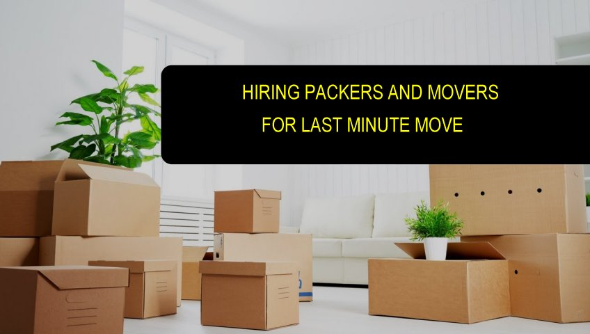 Last Minute Moving Service In Gurgaon